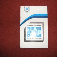 Nicolae Petrescu - Principiile sociologiei comparate - Carte Sociologie