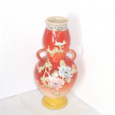 Vaza mare ceramica japoneza SatsumaTaizan kyo-yaki, Meiji cca 1890-1900, semnata - Arta din Asia