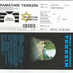 LL bilet de intrare Lagar de Concentrare / Muzeu TEREZIN