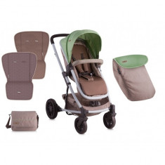 Carucior 2 in 1 landou S-500 Green and Beige Lorelli - Carucior copii 2 in 1