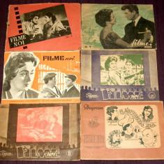 FILME NOI 1957-1958, 6 reviste cinema, cinematografie, premiere cinematografe
