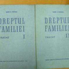 Dreptul familiei 2 volume Tudor Popescu Bucuresti 1965