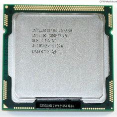 Procesor Intel Core i5-650, 3.20GHz, 4MB Cache