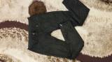 Pantaloni zara gen piele, Negru, 36