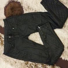 Pantaloni zara gen piele - Pantaloni dama, Marime: 36, Culoare: Negru