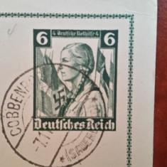 Carte postala - Germania nazista - zvastica ( HITLER ), Circulata, Printata