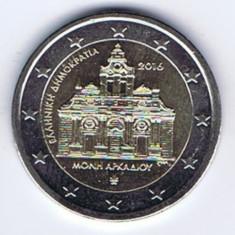 moneda 2 euro comemorativa GRECIA 2016, manastirea ARKADI - UNC