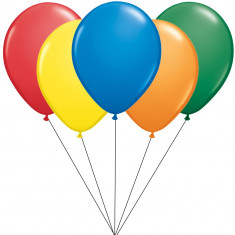 Buchet din 5 baloane latex asortate 26cm cu heliu, Radar BB.STD.ASS