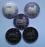 Monede GERMANIA 2017, 5x2 euro comemorativ (ADFGJ) Porta Nigra - UNC, Europa, Cupru-Nichel