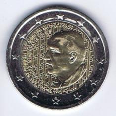 moneda 2 euro comemorativa GRECIA 2016, Dimitri Mitropoulos - UNC