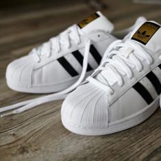 Adidasi Adidas SuperStar - Adidasi dama, Culoare: Alb, Marime: 34, 35, 36, 37, 38, 39, 40, 41, 42, 43, 44, Piele sintetica