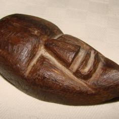 Impresionanta scultura in lemn - cap de barbat - Sculptura, Masti, Europa