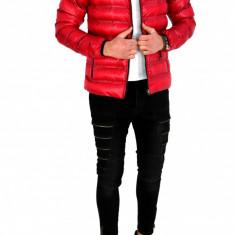 Geaca primavra toamna rosie - Geaca barbati - COLECITE NOUA - 7767, Marime: XL, Culoare: Din imagine