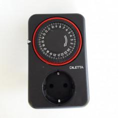 Temporizator priza cu programa Diletta ( 1052) - Priza si intrerupator
