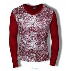 Bluza mulata cu anchior pentru barbati model primavara 2017 / maleta subtire - Bluza barbati Tapout, Marime: XL, Culoare: Visiniu, Bumbac