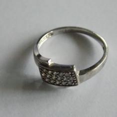Inel de argint cu zirconii-1083 - Inel argint