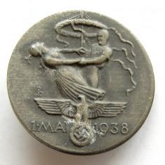 X388 Germania 1 mai 1938 insigna de propaganda, Europa