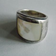 Inel de argint cu sidef-1103 - Inel argint