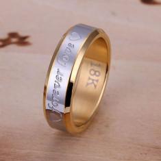 Inel placat aur-argint