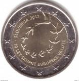 Moneda 2 euro comemorativa SLOVENIA 2017, UNC, Europa, Cupru-Nichel
