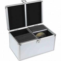 Cutie depozitare 120 discuri, aluminiu, Media Range, argintiu