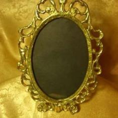 Rama foto/oglinda, bronz dore aur 22k, Baroc Victorian, colectie/cadou
