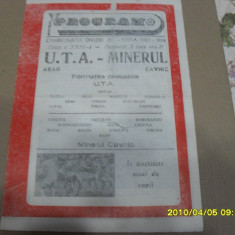 Program     UTA   -  Minerul  Cavnic