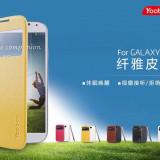 Husa Samsung Galaxy S4 i9500 S-VIEW Alba by Yoobao - Husa Telefon Samsung, Cu clapeta, Toc