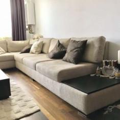 Canapea pe colt, coltar living in forma de L