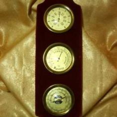 Statie meteo de camera, termo/umido/barometru, Franta, vintage