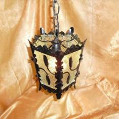 Doua lustre ornamental-decorative artizanale vintage, gotic/medieval - Corp de iluminat