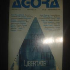 AGORA volumul IV numarul 3 IULIE SEPTEMBRIE 1991