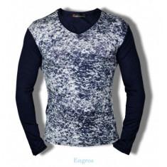 Bluza mulata cu anchior pentru barbati model primavara 2017 / maleta subtire - Bluza barbati Tapout, Marime: S, L, XL, Culoare: Bleumarin, Bumbac