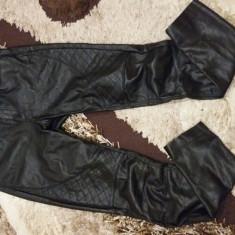 Pantaloni orsay piele - Pantaloni dama, Marime: 36, Culoare: Negru