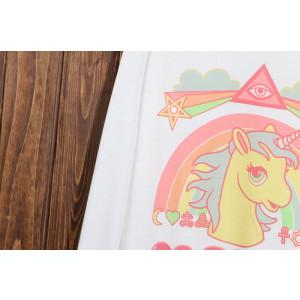 Pulover Casual Fashion Unicorn Go To Hell Alb Maneca Lunga CALITATE