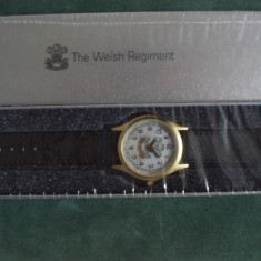 Ceas militar replica - THE WELSH REGIMENT - WW II, Otel