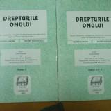 Drepturile omului Bucuresti 1993 V. Luncan V. Duculescu acte si documente 2 vol