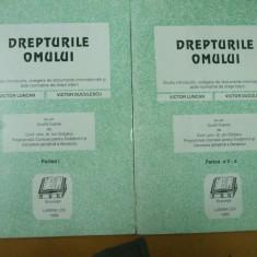 Drepturile omului Bucuresti 1993 V. Luncan V. Duculescu acte si documente 2 vol - Carte CEDO