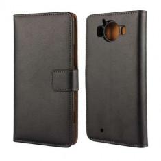 Husa Flip Cu Stand Microsoft Lumia 950 Neagra - Husa Telefon