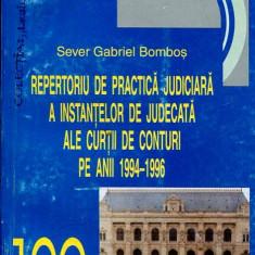 LICHIDARE-Repertoriu de practica judiciara a instantelor de judecata ale curtii de conturi pe anii 1994-1996 - Autor : Bombos - 98484 - Carte Drept penal