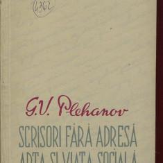 LICHIDARE-Scrisori fara adresa, arta si viata sociala - Autor : Plehanov - 81581 - Carte Arta muzicala