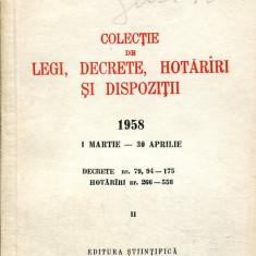 LICHIDARE-Colectie de legi, decrete, hotarari si dispozitii, vol. II- 1 martie-30 aprilie 1958 - Autor : - - 109439 - Carte Drept penal