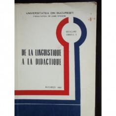 DE LA LINGUISTIQUE A LA DIDACTIQUE - Carte Teste Nationale