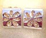 REDUCERE- Cercei CLIPS 3D placati cu aur galben 18k si cristale zirconia