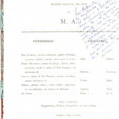 LICHIDARE-Don Pasquale- dramma buffo in tre atti - Autor : - - 62303 - Carte Cinematografie