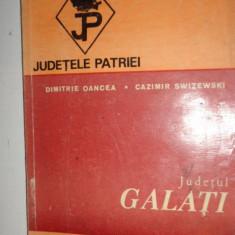 JUDETUL GALATI COLECTIA JUDETELE PATRIEI CU HARTA