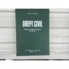 Drept Civil, Dr. Stanciu D. Carpenaru, 1971 - Carte Drept civil