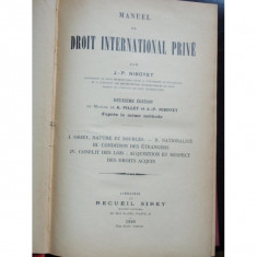 DROIT INTERNATIONAL PRIVE - J.P.NIBOYET - Carte Drept international