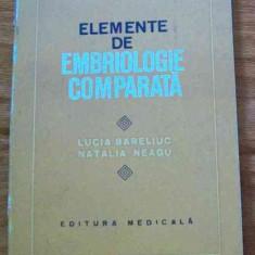 LICHIDARE-Elemente de embriologie comparata - Autor : Lucia Bareliuc - 70495