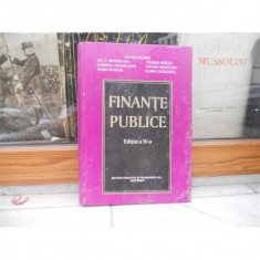FINANTE PUBLICE EDITIA A IV-A, IULIAN VACAREL